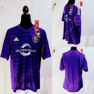 adidas Shirts - Adidas MLS Orlando City Soccer Jersey size L🆕🦅